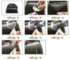 VLASY - KERATIN EXTENSION 100 pramenů,PŘÍRODNÍ ČERNÁ,#1B, 50g, 50cm, 100% lidské vlasy k prodloužení