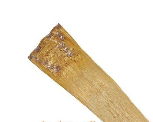 CLIP IN 7pásů odstín BLOND #18, 70g, 45cm, 100% lidské vlasy k prodloužení