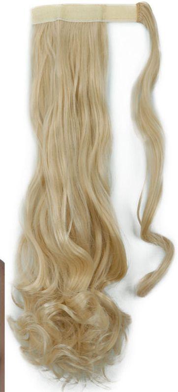 Culík clip in, 100% japonský kanekalon,světlá blond,55cm