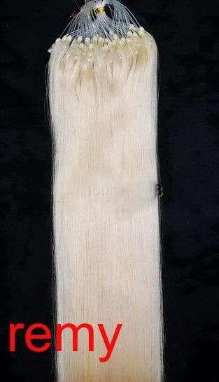VLASY -MICRO RING 100 pramenů BLOND #613, 50g, 45cm,100% lidské vlasy k prodloužení