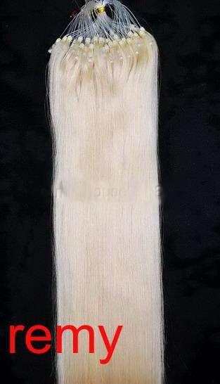 VLASY -MICRO RING 100 pramenů BLOND #613, 50g, 50cm,100% lidské vlasy k prodloužení