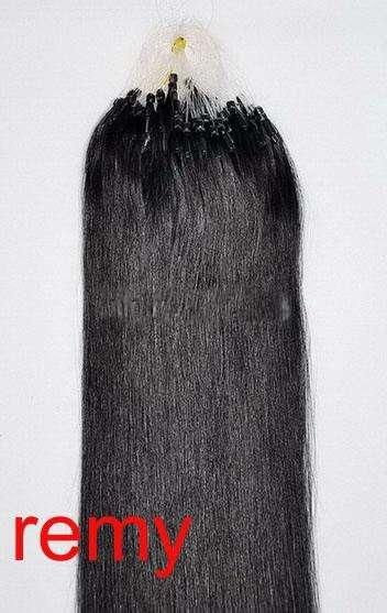 VLASY -MICRO RING 100 pramenů ČERNÁ #01,50g, 50cm,100% lidské vlasy k prodloužení